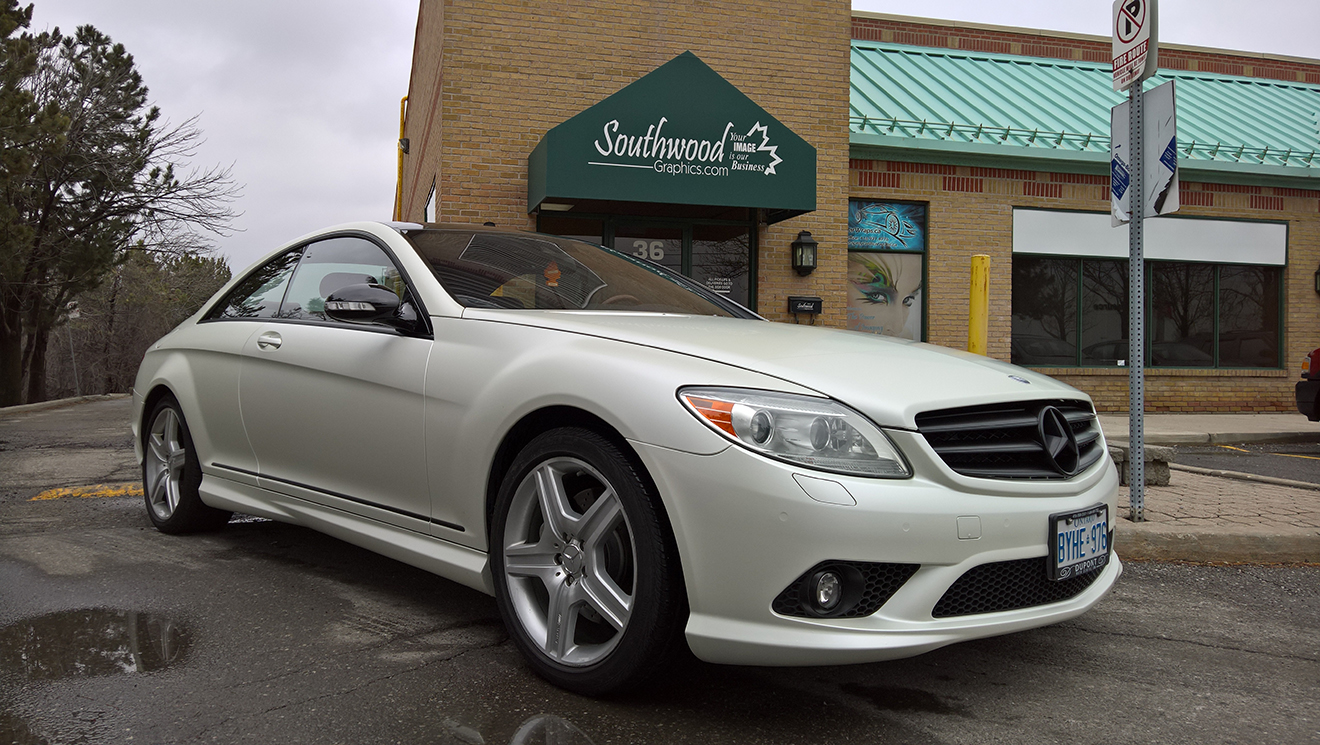 Mercedes CL550 Satin Pearl White